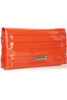 Anya Hindmarch Byron patent-leather clutch