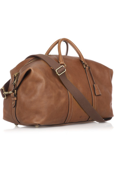 232faa1f29df Small Clipper leather weekend bag