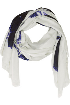 Mulberry Ink-print bamboo-blend scarf