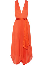 Kip pleated chiffon dress
