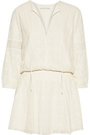 Margaux embroidered voile mini dress