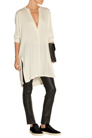 Stretch-silk tunic