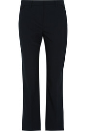 Stretch-wool gabardine straight-leg pants