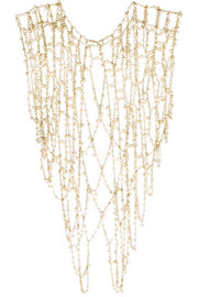 Chimera gold-tone pearl body chain