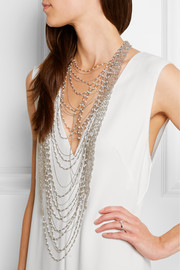 Giovanna palladium-tone pearl necklace