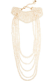 Rosantica Tramonto gold-tone pearl necklace