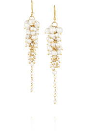 Bravi gold-tone pearl earrings