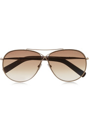 Tom Ford Eva aviator-style gold-tone sunglasses