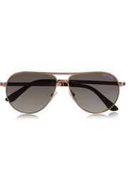 Tom Ford Marco aviator-style gold-tone sunglasses