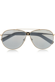 Eva aviator-style gold-tone sunglasses