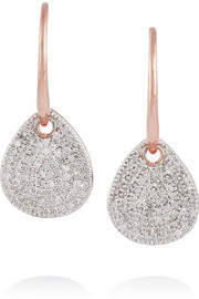 Alma rose gold-plated diamond earrings
