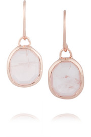 Siren Wire rose gold-plated quartz earrings