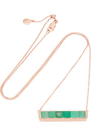 Baja rose gold-plated emerald necklace