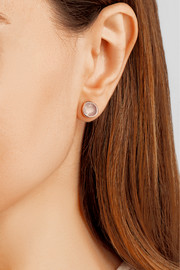 Siren rose gold-plated quartz earrings