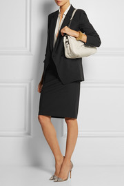 Stretch-wool pencil skirt