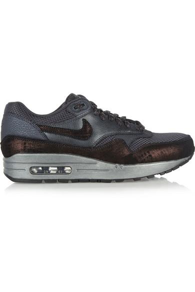 Nike Air Max 1 Nubuck Texture En Cuir Et Chaussures De Sport Mesh