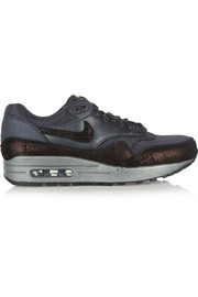 Nike Air Max 1 textured-leather, nubuck and mesh sneakers