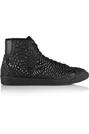 Nike Blazer Mid Diamondback Kurim® leather high-top sneakers