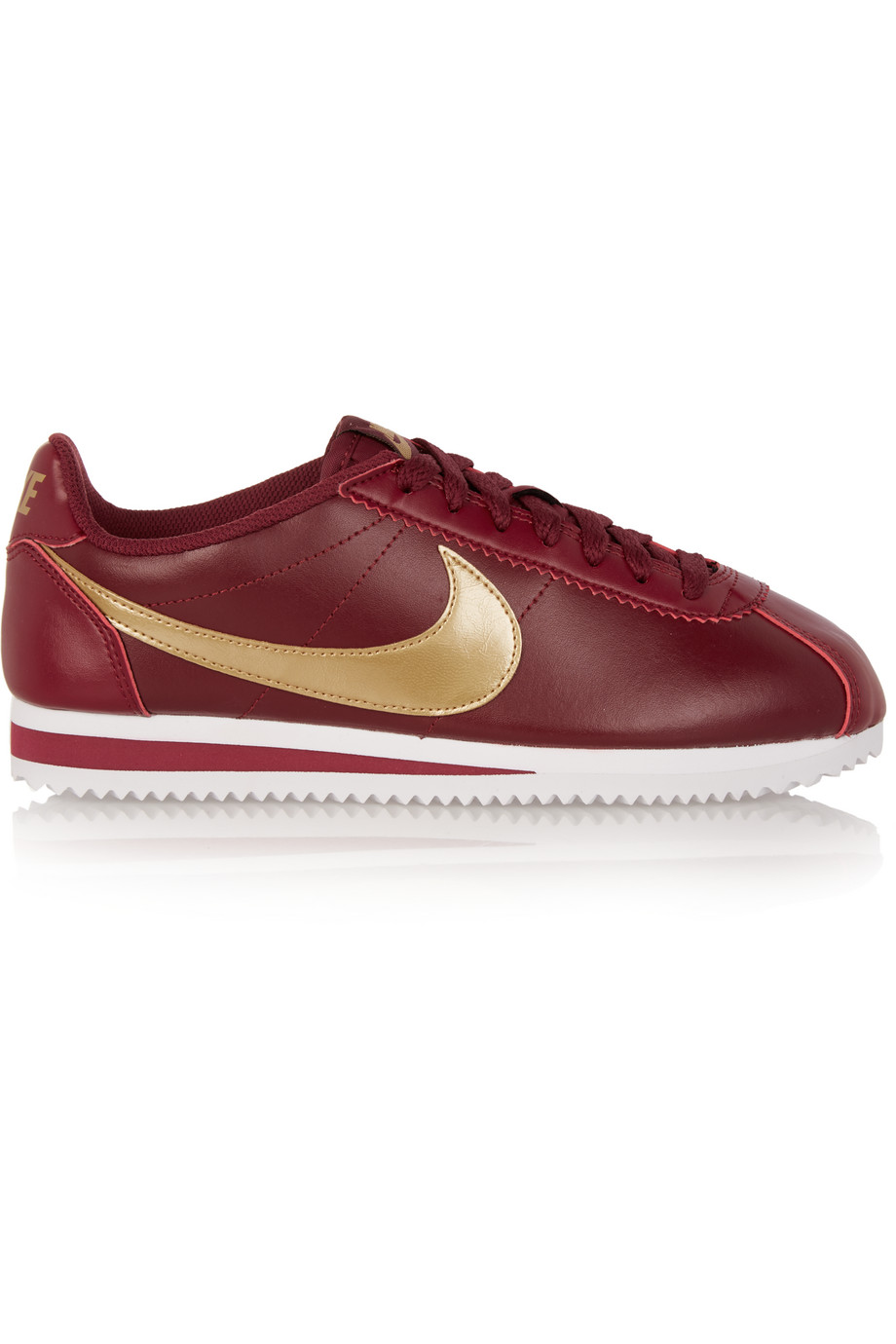 Nike Classic Cortez Leather Sneakers, Red/Burgundy, Women's, Size: 5