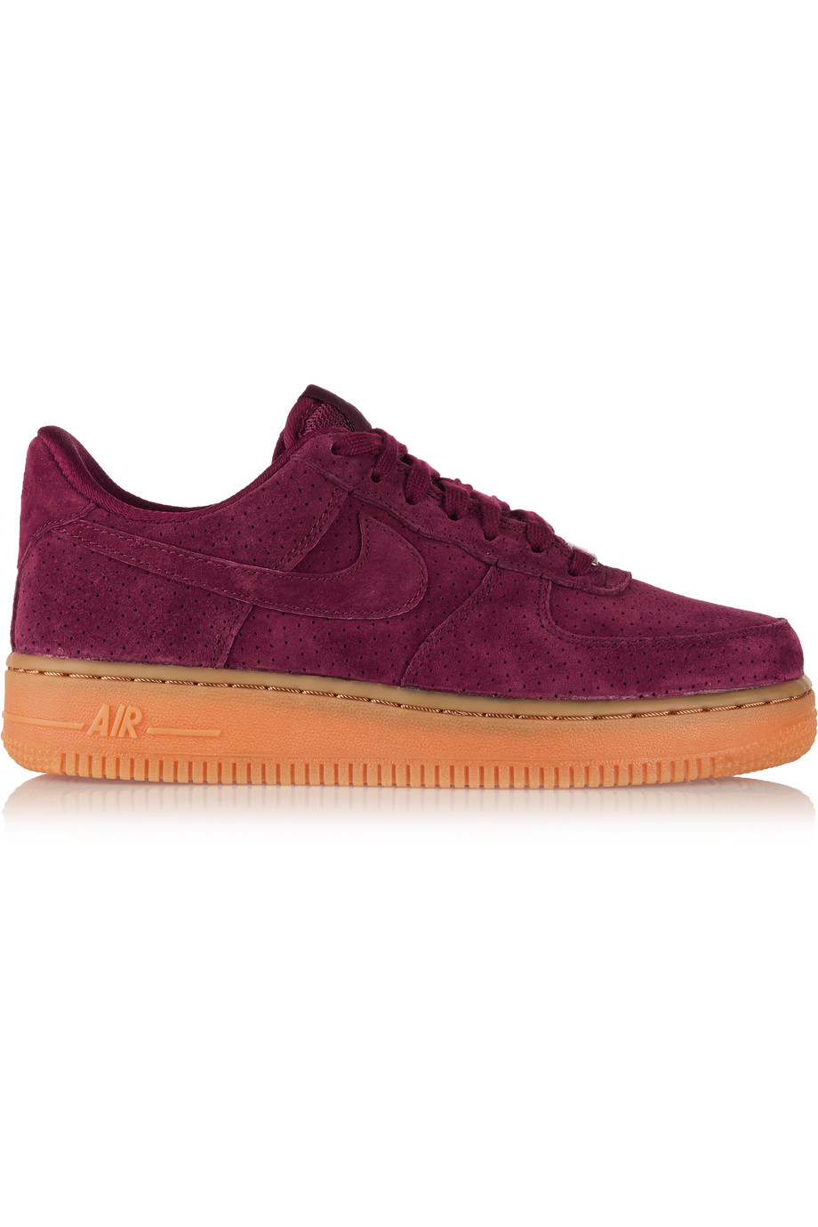 Nike Air Force 1 07 Suede Sneakers, Burgundy, Women's, Size: 11