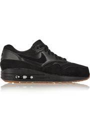 Air Max 1 Essential suede, mesh and textured-leather sneakers