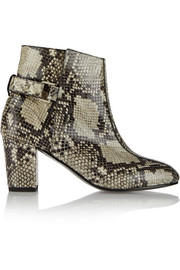 Sabrina snake-effect leather ankle boots