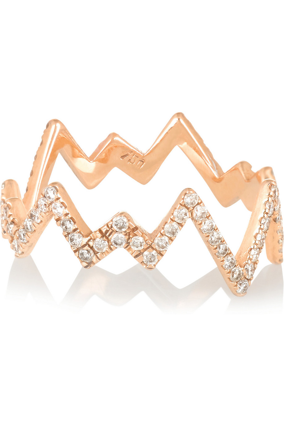 Diane Kordas Pop Art 18-Karat Rose Gold Diamond Ring, Women's, Size: 6