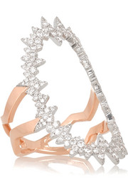 Atomic Pop Art 18-karat rose gold diamond ring