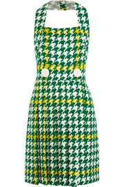 Wool and cotton-blend bouclé-tweed dress