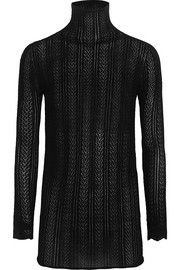 Gucci Pointelle-knit cashmere and silk-blend sweater