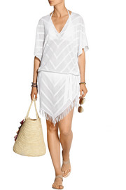 Fringed crocheted kaftan