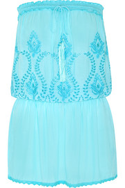 Fruley embroidered voile dress