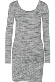 Mélange stretch-jersey dress