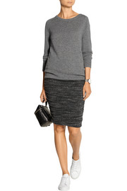 Splendid Ruched mélange jersey skirt
