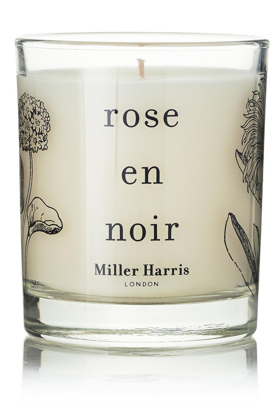 Rose en Noir Scented Candle - Turkish Rose & Raspberries, 185g