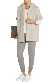 Chunky-knit cashmere and silk-blend hooded cardigan