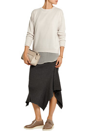 Two-piece cashmere and silk-chiffon sweater