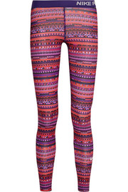 Pro Warm 8 printed stretch-jersey leggings