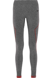Pro Hyperwarm Limitless mélange stretch-jersey leggings