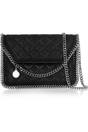 The Falabella Tiny quilted faux brushed-leather shoulder bag