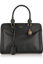 Alexander McQueen Padlock textured-leather tote