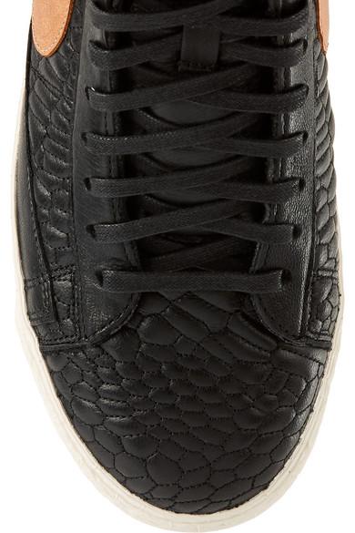com Porter Cuir Blazer Net A Effet Baskets Nike Montantes En Croco tSCvWWqzx