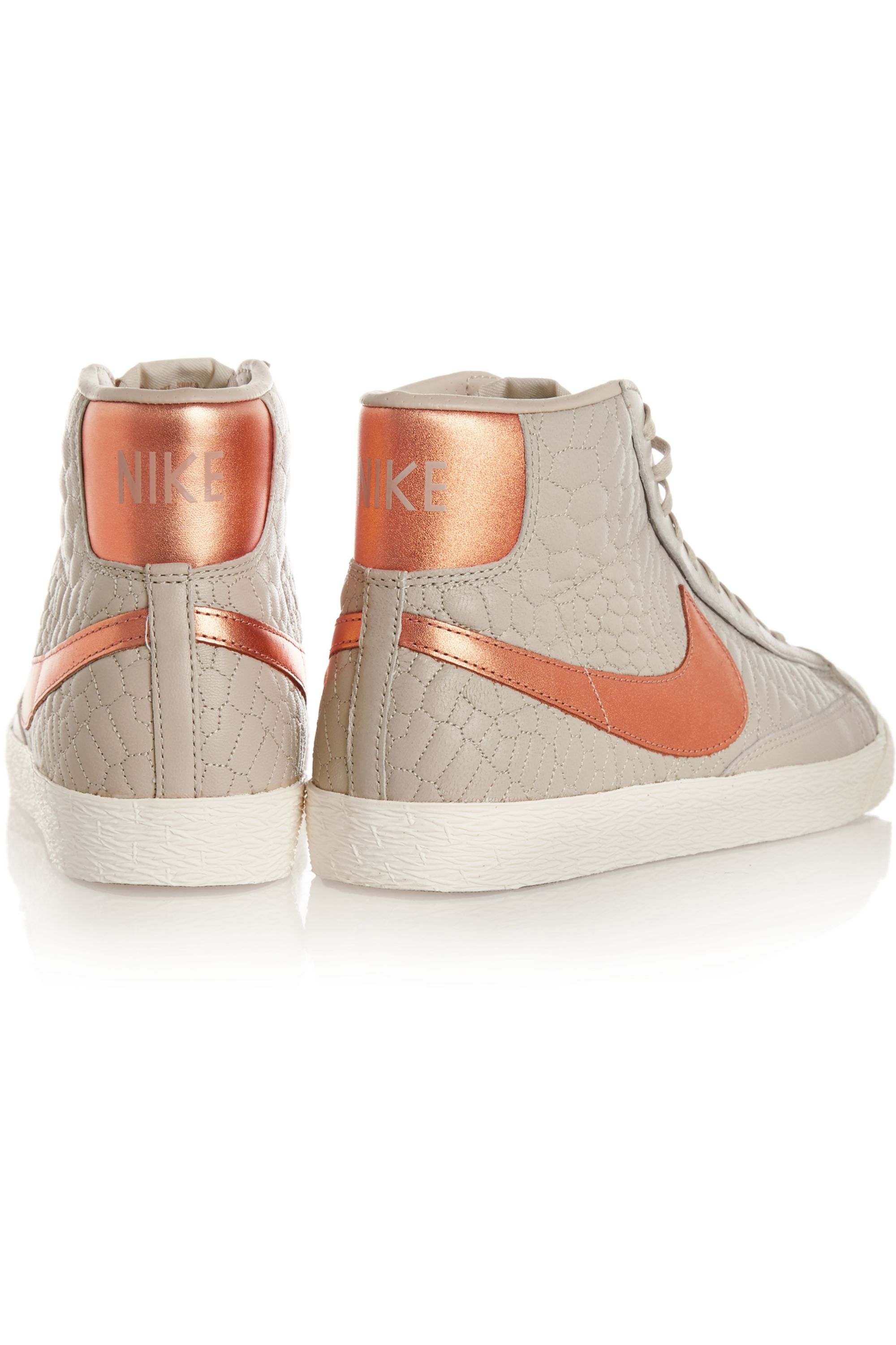 Nike Blazer croc-effect leather high-top sneakers