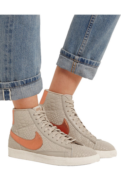 really cheap big discount new style Blazer croc-effect leather high-top sneakers