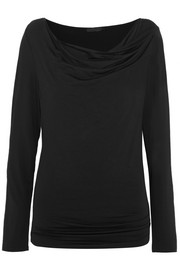 Donna Karan New York Draped stretch-jersey top