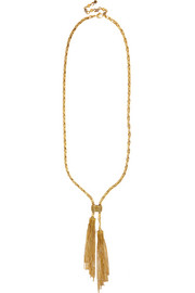 Erickson Beamon Velvet Underground gold-plated necklace