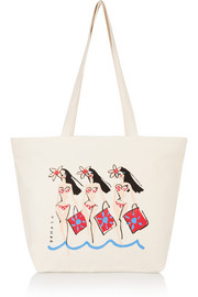 + Donald Robertson Dottie printed canvas tote