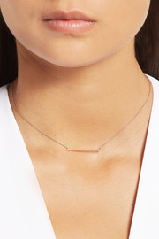 Diane Kordas Bar 18-karat rose gold diamond necklace
