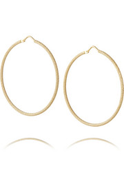 Carolina Bucci Large 18-karat gold hoop earrings