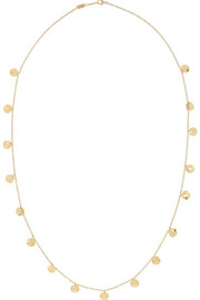 Paillette 18-karat gold necklace